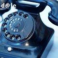 Teléfono antiguo de contacto